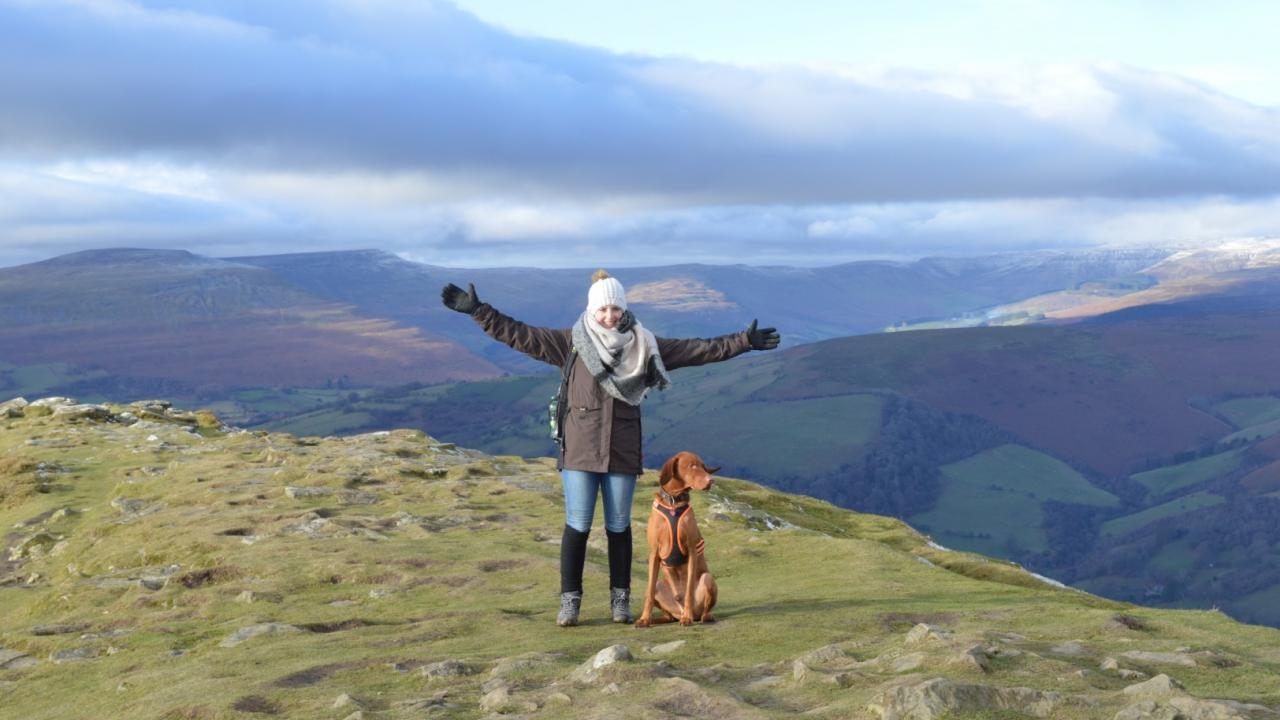 Urlaub mit Hund am Sugarloaf Mountain in Wales
